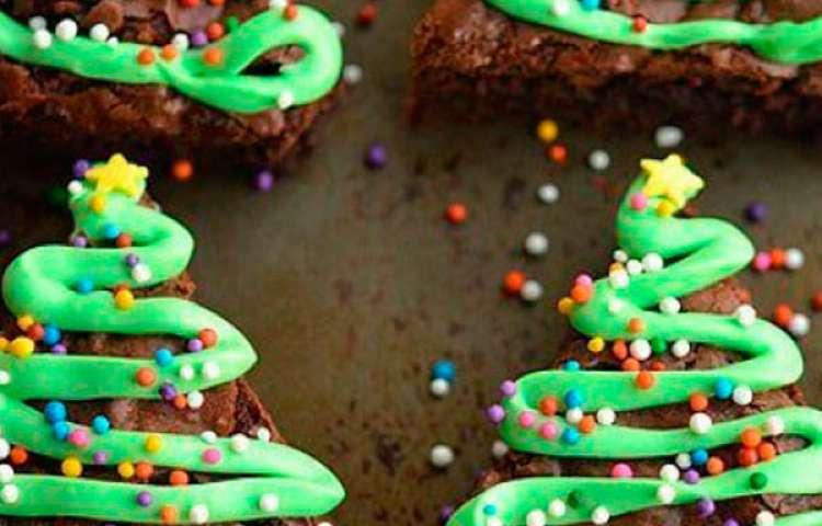 Chocolate cake brownie herringbone