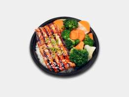 WaBa Grill Salmon Veggie Bowl