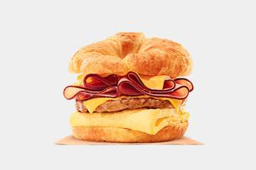 Burger King King CROISSAN'WICH with Ham & Sausage