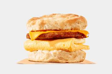 Burger King Sausage, Egg & Cheese Biscuit