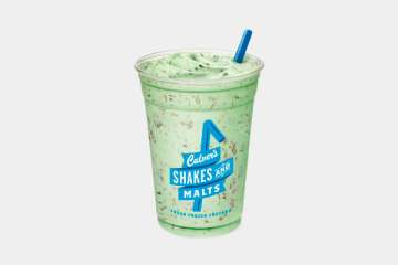 Culver's Mint Chip Shake