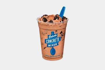 Culver's Chocolate Concrete Mixer made with OREO