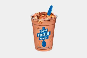 Culver's Chocolate Concrete Mixer made with Snickers