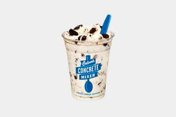 Culver's Vanilla Concrete Mixer made with OREO