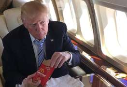 Donald Trump eats McDonald's food to avoid being poisoned