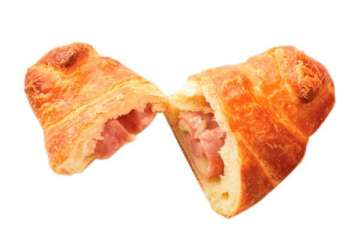 Au Bon Pain Ham and Cheese Hot Croissant