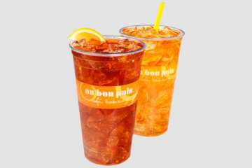 Au Bon Pain Peach Iced Tea