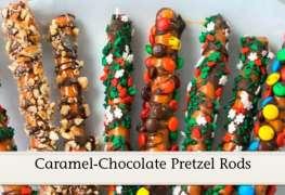 Caramel-Chocolate Pretzel Rods recipe