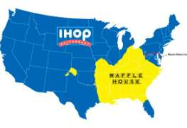 Do You Live In IHOP America Or Waffle House America?. Map