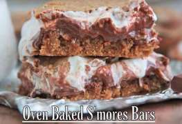 Oven Baked S'mores Bars