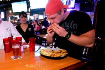 Big Timmy Burger Challenge Eaten in 2:58