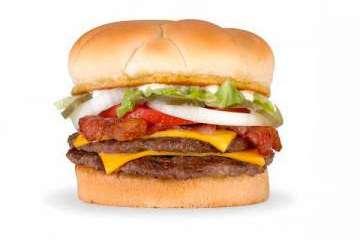 A&W Original bacon double cheeseburger