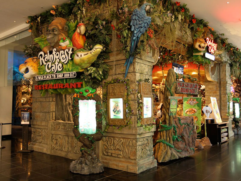 Rainforest Cafe Woodfield Mall Hours