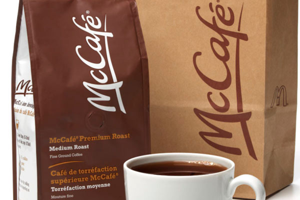 McDonalds coffee packaged