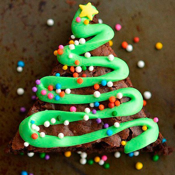Water And Sugar For Christmas Tree: Chocolate Cake Brownie Herringbone
