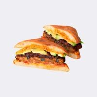 Au Bon Pain Chipotle Black Bean Burger with Avocado