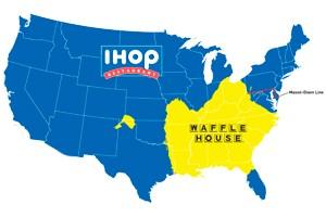 IHOP and Waffle map