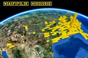 Waffle House Map 3D