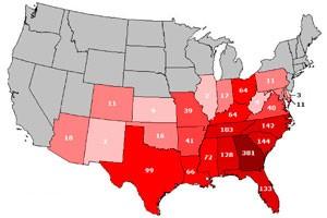 Waffle House map USA