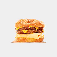 Burger King King CROISSAN'WICH with Double Sausage