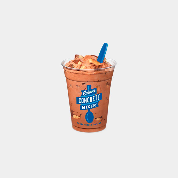 Culver's Chocolate Concrete Mixer made with Reese's
