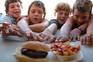 fast food children